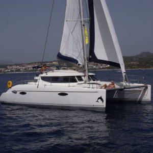 Catamaran Yacht Sailing Rhodes